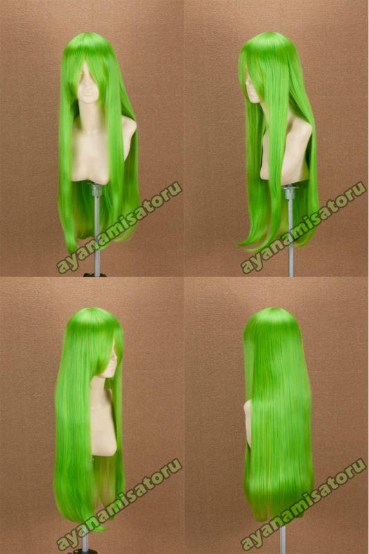 Long 80cm cosplay wig Yellow green C.C(China (Mainland))