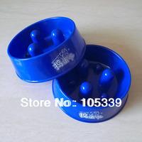 Free Shipping Fashion Wholesale 10pcs/lot Personality Blue Red Anti Choke Dog Bowl Designer Pet Bowl Hot Sale Feeding B0001