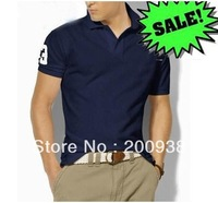 Men's t shirts Short Sleeve slim fit 100% cotton many colors 4 sizes free shipping New arrival for man summer wear