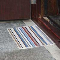 Aq3870 striped plush carpet doormat slip-resistant pad bath mat absorbent pads