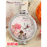 Mini table polymer clay watch love story of ice cream series ladies watch