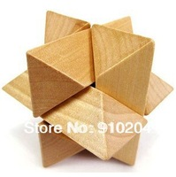 Promotion!Christmas Gift,Wooden Puzzle/Educational Toy,Brain Teaser,Wooden KongMing Lock (8x8x8cm) IQP012