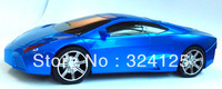 Free shipping 10pcs mini Lamborghini fashion Support FM Digital Mp3 TF USB Music car Player Car Model Music Speaker