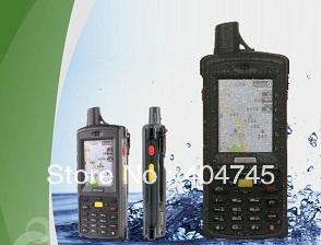 "free shipping 2.8"" OLED Rating IP64 Quad band, GPRS Radios,Handheld GPS DataTerminal, Group Talking, Dual SIM,GLONASS optional(China (Mainland))"