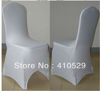 free shipping/Wedding chair covers\Spandex /lycra chair cover for banquet /white color