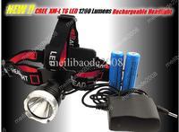 8pcs K74 CREE XM-L XML T6 1200L LED Lampe Headlamp Headlight AAA / 18650 Phare Falot Velos Frontale