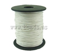 FREE SHIPPING Jewelry Findings Wax Cord, white color, 1mm, Length:80 Yard, Sold by PC