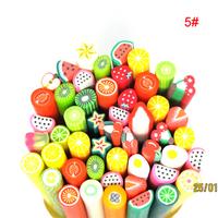 50PCS Nail Slice fimo Charms Bead 3D Camera fruit free shipping