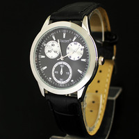 New Fashion Luxury Gentle Men's Man Teenagers Analog Casual Quartz Wrist Watches, 2 Colors Available, A112