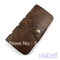 Mens NEW Bags Leather Wide Wallets Purse Card Case Flip Bifold Pocket (JX0002)
