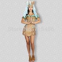 Free Shipping Halloween Costume for Women Rain Dancing Diva Costume French Maid Costume