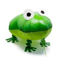 free shipping 20pcs/lot,assortment design,18 inches walking pet balloon,walking balloon animals,frog walking balloon