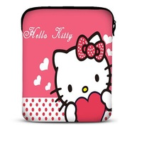 "Kitty Neoprene 9.7"" Novel Light Design Sleeve Soft Bag Tablet PC Case Free Shipping"