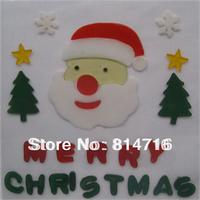 Free shipping merry christmas window jelly sticker