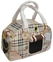 Plaid pet bag handbag pet bag dog pack pet egregiousness bag teddy