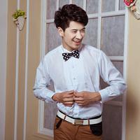 Shirt white small lapel male shirt formal dress shirt
