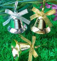 18pcs/lot Free Shipping Hot Sale Christmas Decoration Xmas tree Golden bells pendant m048
