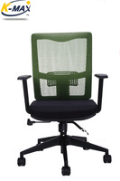 Mesh chair with nylon base,medium swivel  office chair,chairs