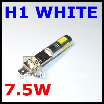 External Lights 2pcs H1 7.5w Super Bright Car Led Front Headlights High Power Light Fog Bulb Lights Lamp 12v