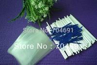 "New 100 X 6""(15cm) Cake Pop Paper Sticks Lollipop Sticks & 3.5x5"" Cello Bags Metallic Twist Ties"