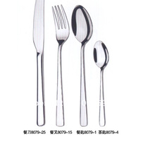 4 pieces/lot Stainless Steel Table ware (Fork, knife, spoon) for dinner, party, church or restaurant and hotels