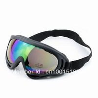 New Ski Skiing Snowboarding Sports Goggles UV400 Sunglasses Black& colorful color free shipping