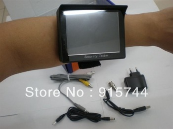 "3.5"" TFT LCD Video Wrist Monitor CCTV Tester Security Camera Resolution 960 * 240+12V Output AT-1000 Support Drop Shipping"