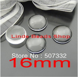 Free shipping! 200pcs 16mm clear domed magnifying round glass cabochons,photo jewelry pendant inserts GT006(China (Mainland))
