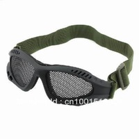 New Steel Mesh Goggle for Protecting Eyes Eyeglasses black& amy green color  free shipping