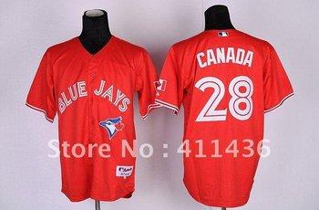 2012 Toronto Blue Jays #28 Rasmus Red Canada Day Baseball Jersey Fast & Free Shipping