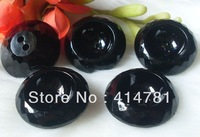 Free Shipping Large acrylic buttons black coat fashion buckle section clasp 30mm 100pcs/lot