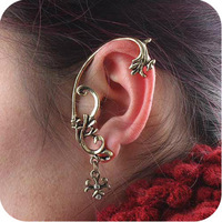 Sunshine jewelry store punk cross pendant earrings ear cuff E307 ( $10 free shipping )
