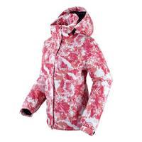 Women's water-proof  free breathing windproof monoboard ski suit thermal outdoor cotton-padded jacket coat hoodie nylon pink
