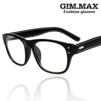 brand prescription glasses sunglasses Gimmax rivet decoration leather glasses box vintage black eyeglasses frame TM