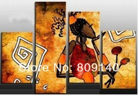 free shipping Portrait oil painting on canvas abstract African Lady Figure high quality handmade home office decoration wall art