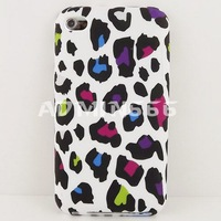 RAINBOW LEOPARD Protector TPU Gel Silicone Cover Case FOR APPLE For ipod touch 4 case
