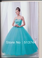 2013 free shipping  A-Line Strapless  Wedding Dress Bridal Gown Stock Sz 4 6 8 10 12