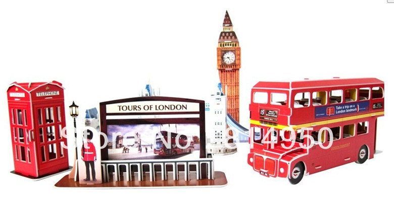 C146 tour in london 3d model puzzle diy chriden Gifts for home builders