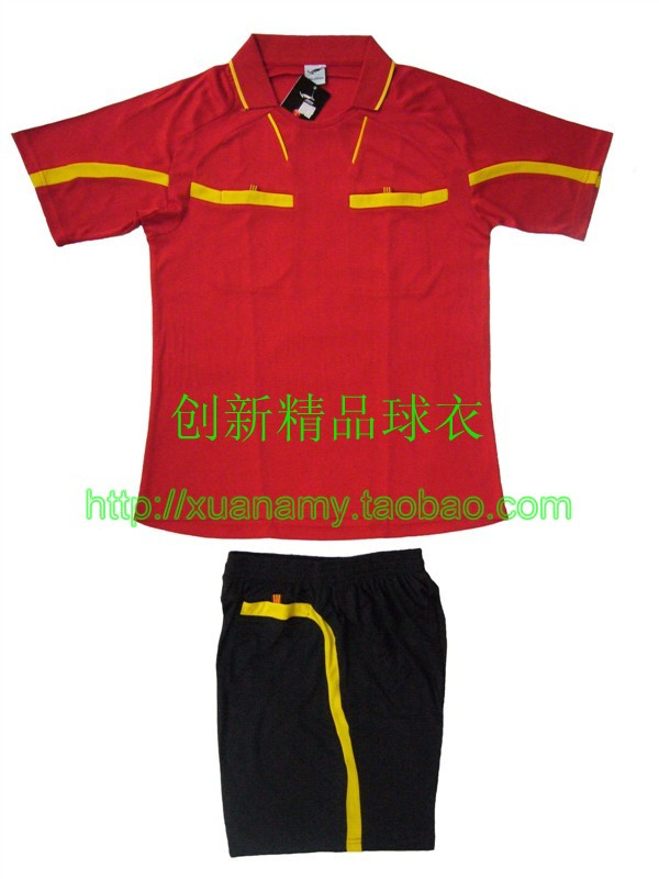2011 turn-down collar referee clothing football referee clothing paintless jersey blank soccer jersey 5(China (Mainland))
