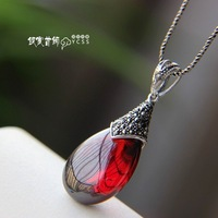 Free shipping 925 pure silver opal female vintage silver pendant