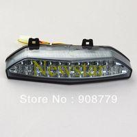 Integrated LED Tail+Turn Light for Kawasaki ZX 6R 07-08 SMOKE Free Shipping