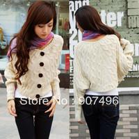 Best Selling!!Women's Fashion loose Batwing Sweater autumn Dolman Knitting jacket outwear+free shipping