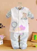 Children toddler bear 2 piece babysuit TZ0051