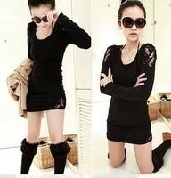 женщины sexty clubwear мини-выше колена вельвет платье с o шея #dl002 в 3 цвета черный & флота & вино Красное