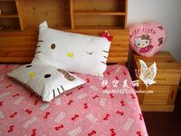 2012 65*42cm  hello Kitty can unpick and wash single pillowcase  2pcs/lot free shipping