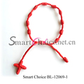 Wholesale handmade polyester friendship cross bracelet mixed colors free shipping