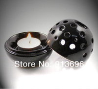 2 IN 1, Ceramic candle holder Candlesticks/glaze ceramic burner/ Porous aroma furnace/ Tower incense burner,4Sets/lot Free ship