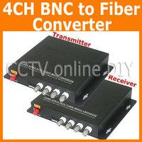 4 Channel Video Data Fiber Media Converter Digital Optical Transmitter and Receiver System For CCTV Security