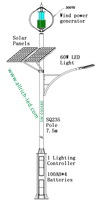 Solar Wind Turbine 60W LED Street Lighting SW-930321