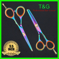 Hair Scissors. Hair Thinner, High quality 440C Steel, 5.5Inch&5.5Inch 28 Tooth, Titanium, With Free Scissor Case+Free Shipping